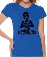 Yoga T shirts Shirts Top for Women Feel The Universe Inside Women's Meditation