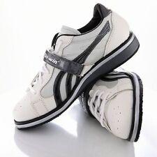 Do-Win weightlifting shoe UK 6.5 white/black wooden midsole lace/velcro fasten