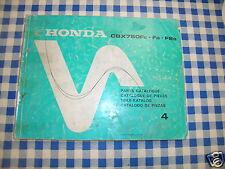 BB 13MJ0E44 Catalogo Parti di Ricambio HONDA CBX 750 F edizione 85
