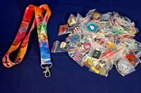 Disney World 25 Pin Trading Lot Lanyard Starter Set Princess Tiana Ariel Belle