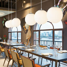 Large Glass Hanging Globe Pendant Light White Glass for Kitchens Hallways Foyers