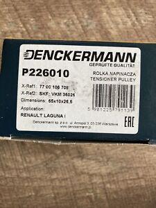 Denckermann P226010 Tensioner Pulley, V-ribbed Belt For Renault Laguna Mk1