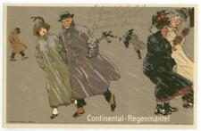 c1920s fascinating Germans caught in rain artist-drawn - Continental-Regenmantel