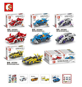 Character Blocks Racing Car Building Bricks Educational Birthday Gifts Kids Toys