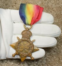 Wwi 1914-1915 Canadian Star Medal Pte R. Kirkpatrick Royal Highlanders of Canada