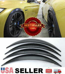 "2 Pairs ABS Black 1"" Arch Extension Diffuser Wide Body Fender Flares For Dodge"