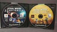 Star Wars Starfighter + Clone Wars - Playstation 2 PS2 Game Lot Tested Working