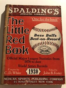 1930 The Little RED BOOK Of Baseball BABE RUTH Lou GEHRIG Burliegh GRIMES Cobb