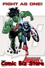 """AVENGERS #1 (2018) FIGHT AS ONE LITHO PRINT #3 """"6 & 5/8 X 10 & 1/8"""""""