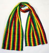Scarf Rasta Reggae Red Green Black Gold Unisex Hand Woven 100% Cotton Free Post