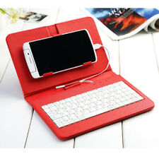 """1 Pcs 7""""Inch PU Leather Case Cover Micro USB Keyboard Stylus for Android Tablet"""