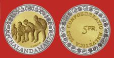Switzerland 5 Francs 2003 Swiss Customs: Chalandamarz. Bimetal Proof