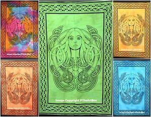 Indian Mandala Cotton Wall Hanging Ethnic Angel Print Yoga Mat Poster Table Case