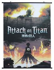 *Legit Poster* Attack on Titan Eren vs Ttian Key Art Authentic Wallscroll #60223