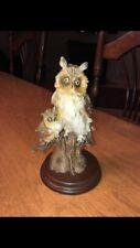 Vintage Giuseppe Armani Capodimonte Pucci Mother Owl & Baby Statue Porcelain