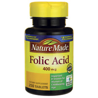 Nature Made Folic Acid 400 mcg 250 Tabs