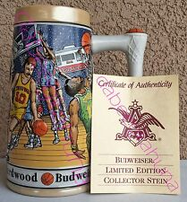 Basketball Budweiser Sports Series - Stein - Made In Brazil - By Ceramarte  1991