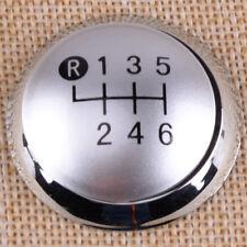 Chrome 6 Speed Gear Shift Stick Knob Cap Top Fit for Toyota Auris 07-09