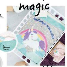 Unicorn Crib Bedding Throws Blanket 1PC Comforter Fleece Baby Shower Rainbow NEW