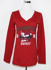 ESPRIT Printed T-Shirt Longsleeve Langarmshirt rot Gr. S NEU UVP 25,95€