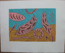 GOETZ Henri - Gravure au carborundum numérotée 1990 etching farblitografie *