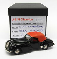 J&M Classics 1/43 Scale Model Car JM76 Healey Duncan Convertible Closed - Black