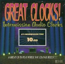 GREAT CLOCKS 2 CD remastered set Drive-in movie Theater Intermission film 2 hrs