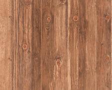 Log Cabin Natural Wallpaper