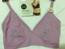 M&S BODY NON WIRED, NON PADDED SMOOTHING PLUNGE BRALET In PALE MAUVE  Size 36E