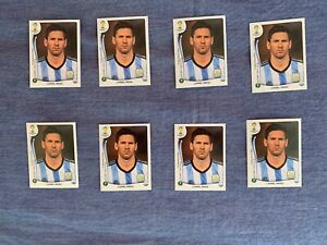 PANINI BRASIL 2014 - LIONEL MESSI # 430  - LOT OF 8