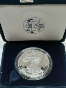 2004-W Proof American Silver Eagle S$1 1 Oz Troy .999 Fine With COA & OGP