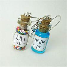 Alice in Wonderland Earrings EAT Me & DRINK Me Glass Bottle Vial Jar Earring Set