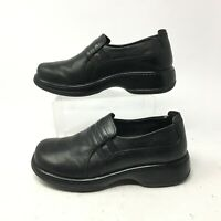 Dansko Slip On Loafer Casual Comfort Shoes Womens 37 Black Leather Round Toe