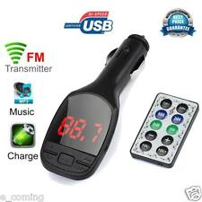 Wireless MP3 Player LCD FM Transmitter Modulator Car Auto Kit USB Charger SD MMC