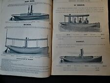SUPER RARE - Boat Catalog Merwin Hulbert Co NY 1888 Steam Yachts Sail Canoes etc