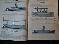 SUPER RARE - Boat Catalog Merwin Hulbert Co NY 1888 Steam Yachts Sail Canoes etc