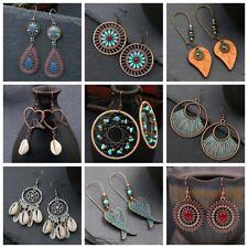 Lots Styles Vintage Boho Turquoise Gemstone Drop Dangle Hooks Earrings Wholesale