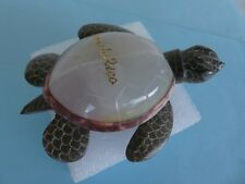 """Hand Carved Stone/Glass Turtle Figurine Multi Color~ Puerto Rico 4 1/2"""" x 3 5/8"""""""