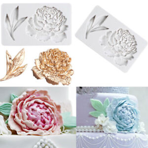 Flower Leaves Silicone Fondant Mold Chocolate Cake Decoration Sugarcraft Mould