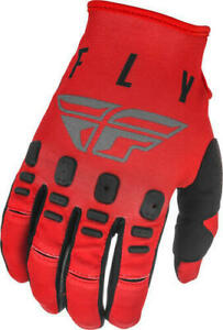 Fly Racing 2021 Youth Kinetic Motocross Gloves K121 Red Grey Black BMX MX Dirt