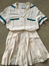 Vintage Chanel Coulotte Dress Off White Size EU 40