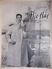 PUBLICITÉ 1957 WEILL COLLECTION VÊTEMENTS DE PLUIE FLIC FLAC - ADVERTISING