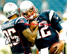 TOM BRADY &  AARON HERNANDEZ SUPER BOWL XLVI autographed 8x10 photo RP