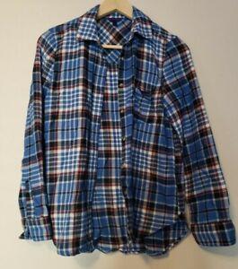Aeropostale Women's Flannel Shirt Size M Blue Purple Super Soft
