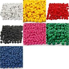 150 x Wooden Beads Assorted Colours Round Jewellery Making Supplies Crafts 5mm