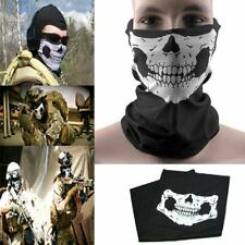 Skeleton Ghost Skull Face Mask Biker Balaclava Costume Game Halloween Cosplay