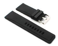 Silicona Pulsera de reloj calidad superior en Negro 26mm