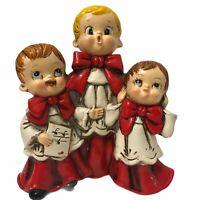 VTG Josef Originals Church Singers Choir Figurines JAPAN Christmas PLAYS MUSIC