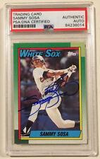 1990 Topps SAMMY SOSA Signed Autographed Baseball Card #692 PSADNA White Sox Cub