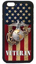 USMC Marines Veteran Marine Corps iPhone 4 4s 5 5s 5c 6 6 Plus Case USA Flag
